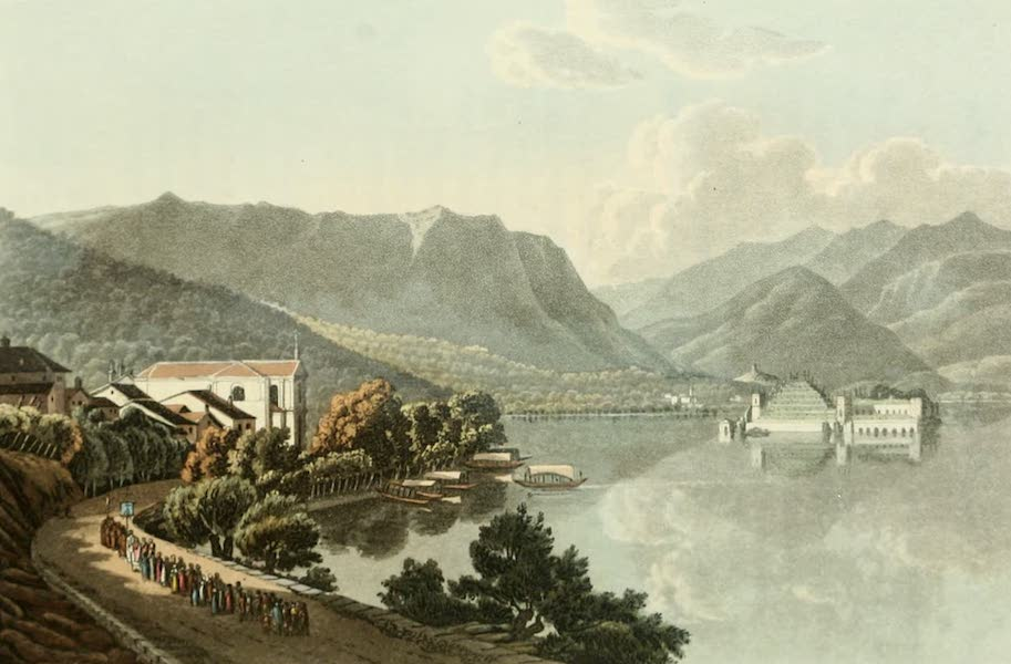 Picturesque Tour from Geneva to Milan - View from Stresa of the Beautiful Island (1820)