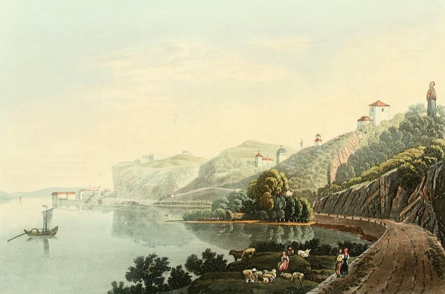 Picturesque Tour from Geneva to Milan - View of Arona (1820)
