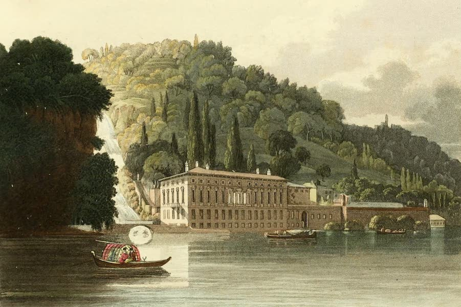 Picturesque Tour from Geneva to Milan - View of Pliniana on the Lake of Como (1820)