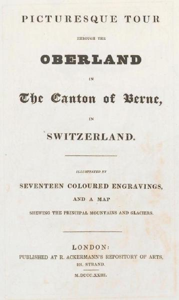 Picturesque Tour through the Oberland - Title Page (1823)