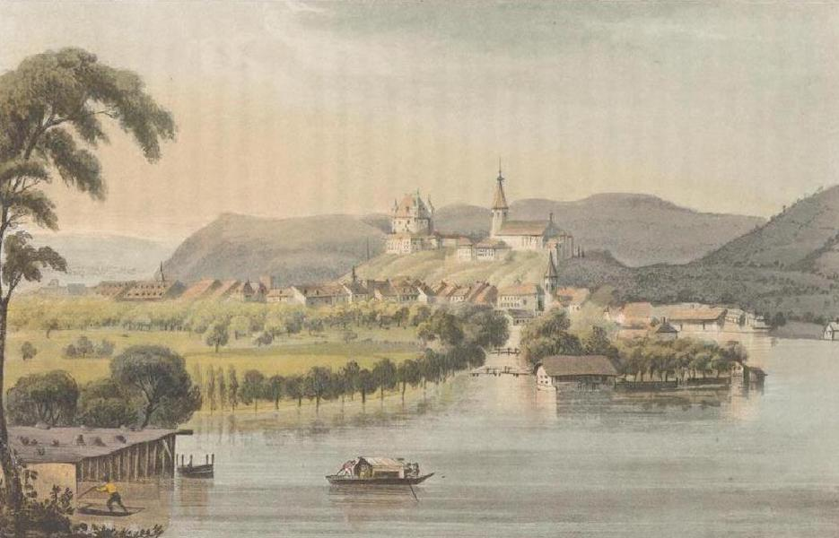Picturesque Tour through the Oberland - South-West view of Thun (1823)