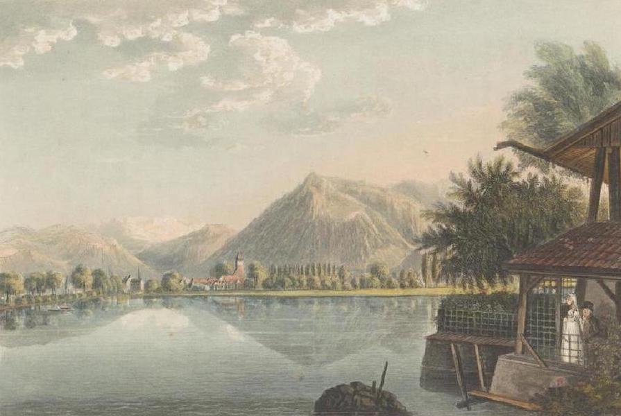 Picturesque Tour through the Oberland - View of the Lake of Thun from upper Island (1823)