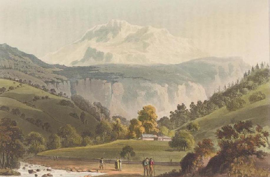 Picturesque Tour through the Oberland - A view of the Jungfrau (1823)