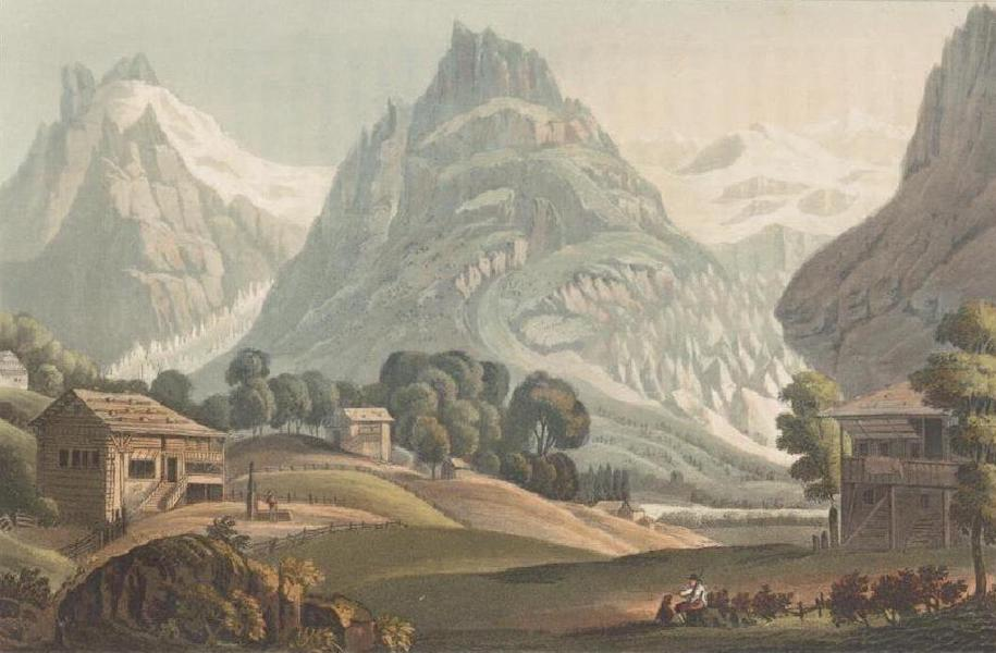 Picturesque Tour through the Oberland - View of the Glaciers of Grindelwald (1823)
