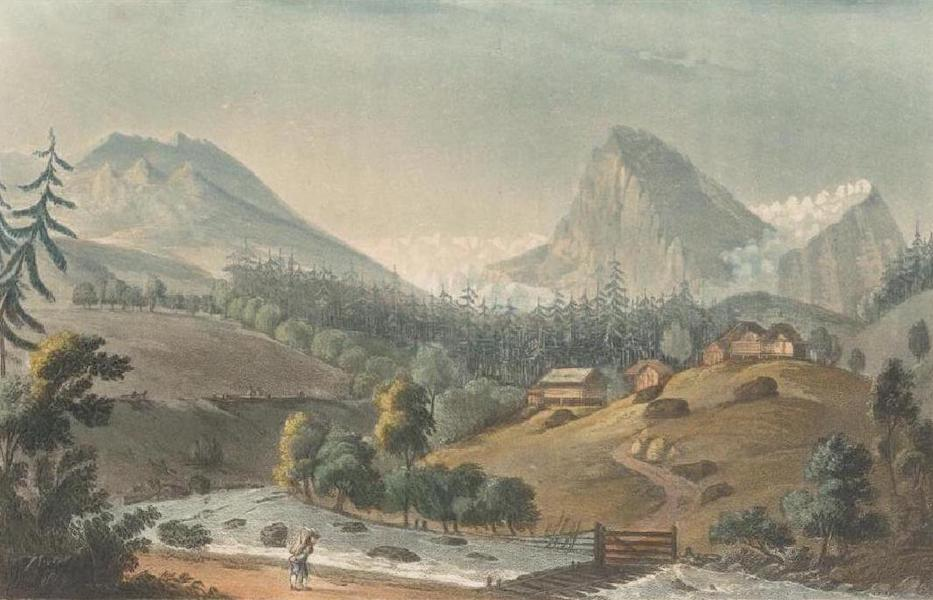 Picturesque Tour through the Oberland - View of the Glaciers of Roselouvi (1823)