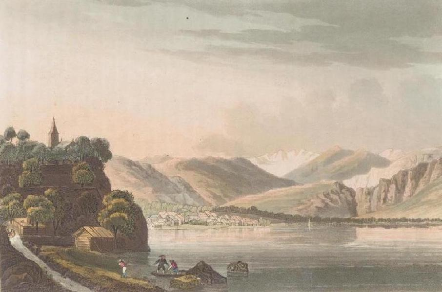 Picturesque Tour through the Oberland - View of the Village of Brienz (1823)