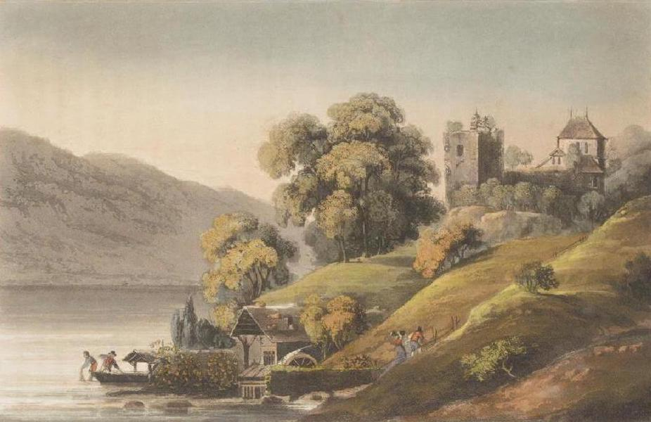 Picturesque Tour through the Oberland - View of the Castle of Rinkenberg (1823)