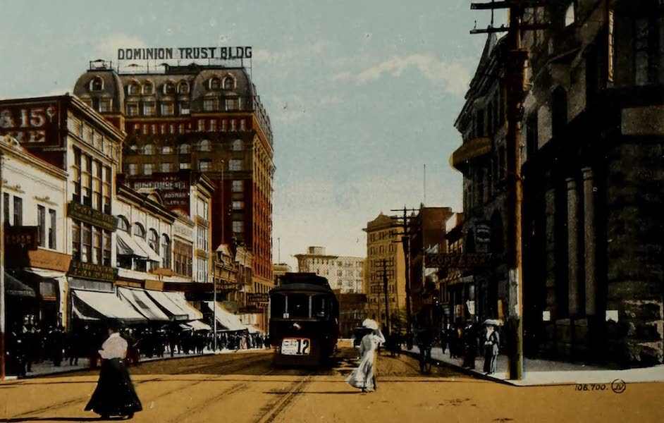 Picturesque Vancouver B.C. - Hastings Street, looking East (1910)