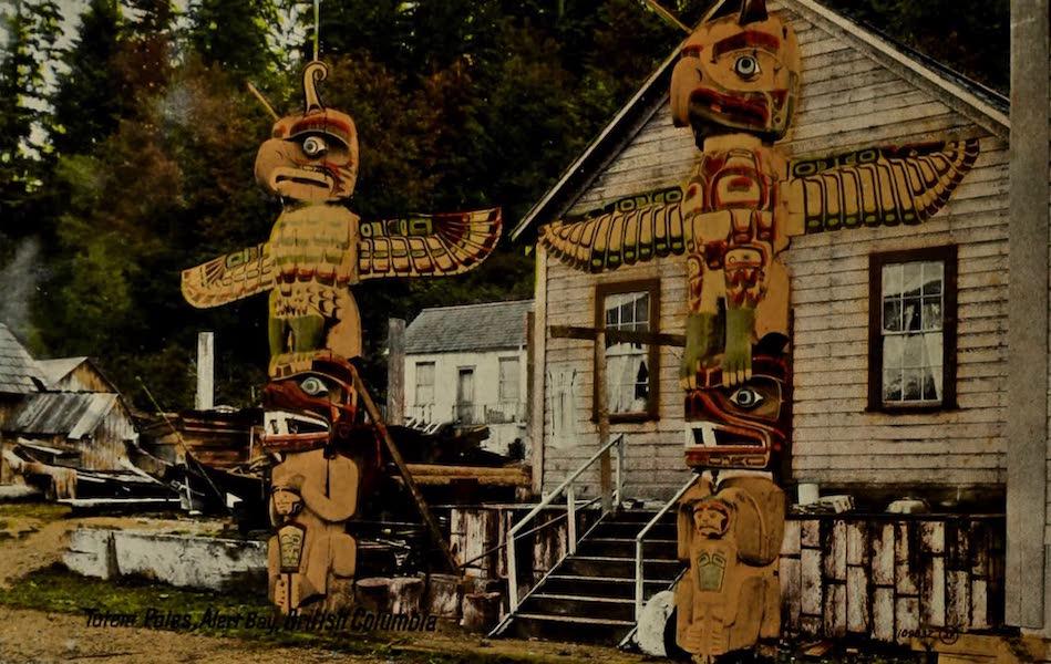 Picturesque Vancouver B.C. - Totem Poles, Alert Bay, British Columbia (1910)