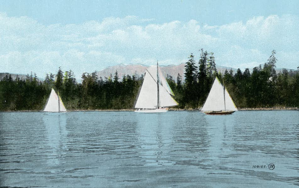 Picturesque Vancouver B.C. - Yacht Racing, English Bay (1911)
