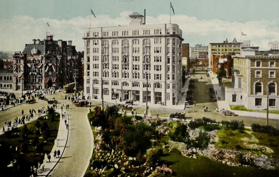 Picturesque Victoria - Post Office, Belmont Building, and Union Club (1910)