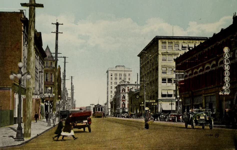 Picturesque Victoria - Douglas Street from Fort Street (1910)