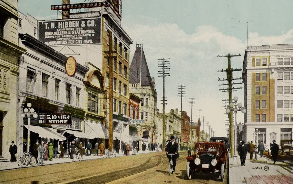 Picturesque Victoria - Government Street from Fort Street (1910)