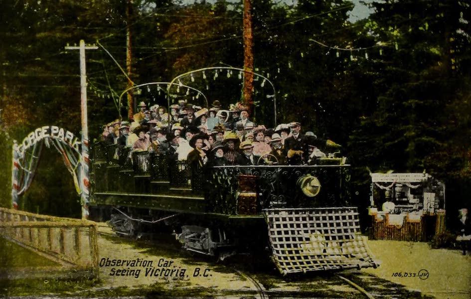 Picturesque Victoria - Observation Car, seeing Victoria B.C. (1910)