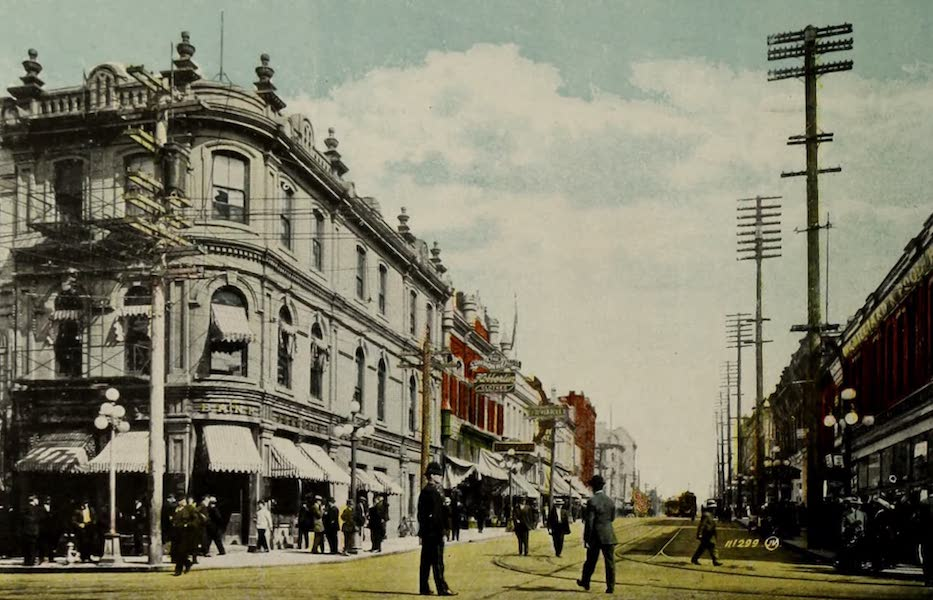 Picturesque Victoria - Yates Street from Government (1910)