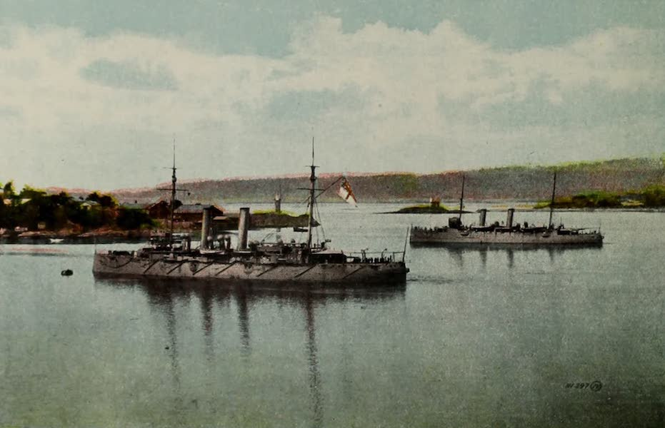 Picturesque Victoria - Warships, Esquimault Harbour (1910)