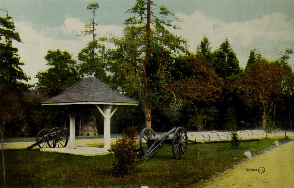 Picturesque Victoria - Chinese Bell and Totem Pole, Beacon Hill Park (1910)