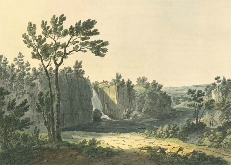 Picturesque Views of American Scenery - Passaic Falls, New Jersey (1820)