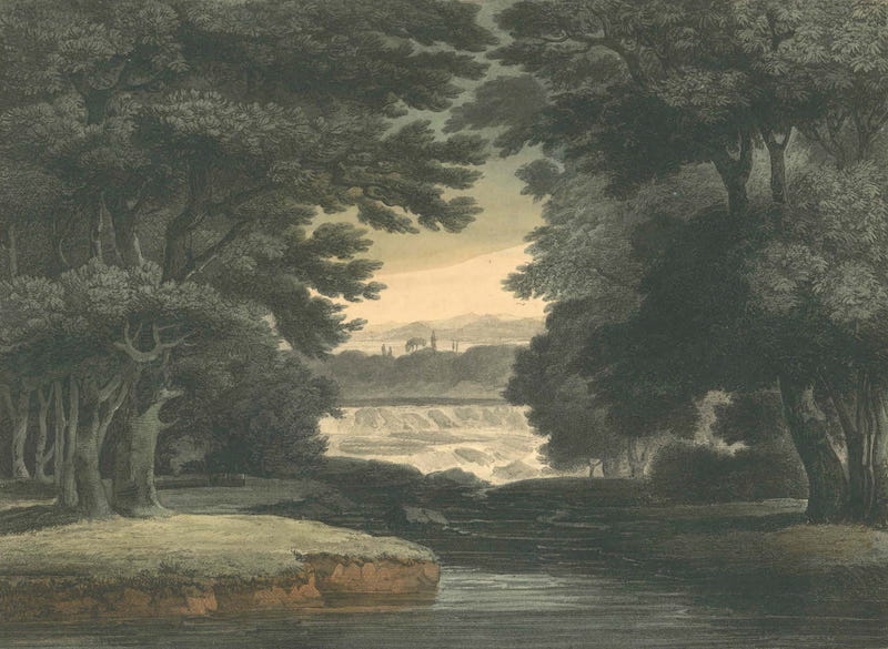 Picturesque Views of American Scenery - Falls of St. Anthony on the Mississippi (1820)