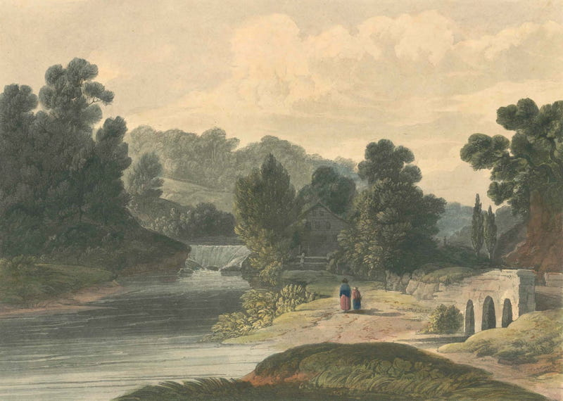 Picturesque Views of American Scenery - Jones Falls Near Baltimore (1820)