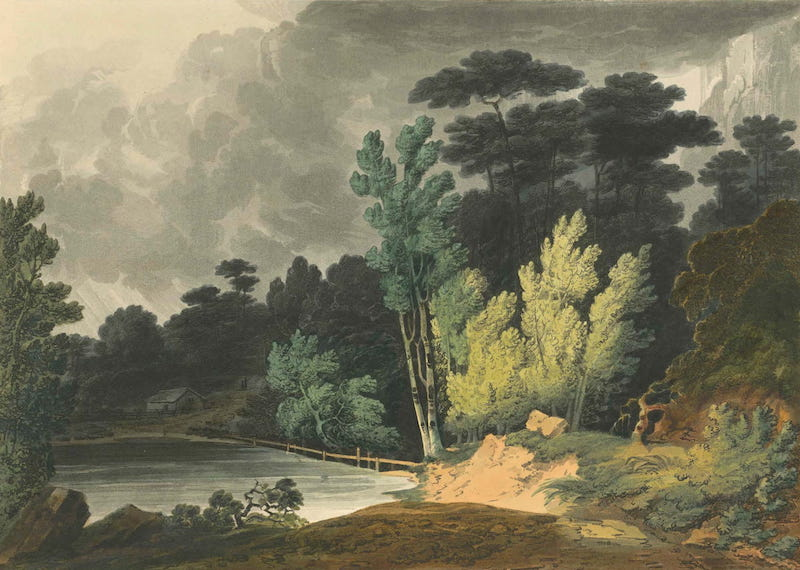 Picturesque Views of American Scenery - Spirit Creek Near Augusta, Georgia (1820)
