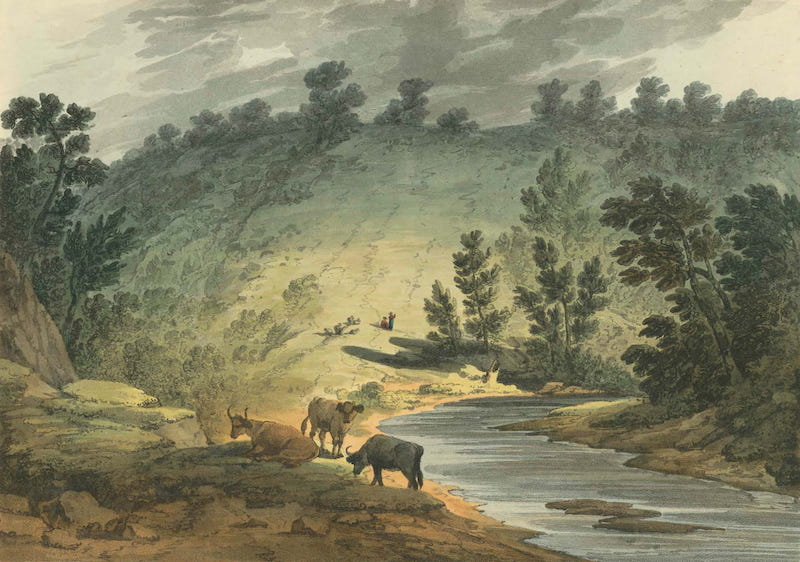 Picturesque Views of American Scenery - View on the Wisahiccon, Pennsylvania (1820)