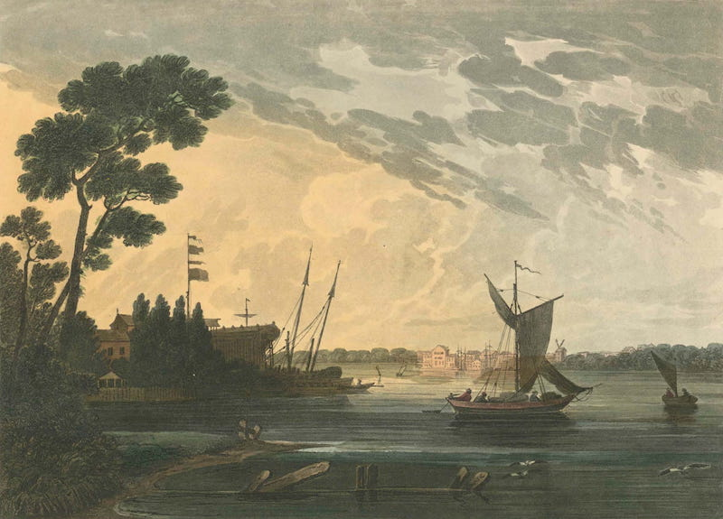 Picturesque Views of American Scenery - Norfolk from Gosport, Virginia (1820)