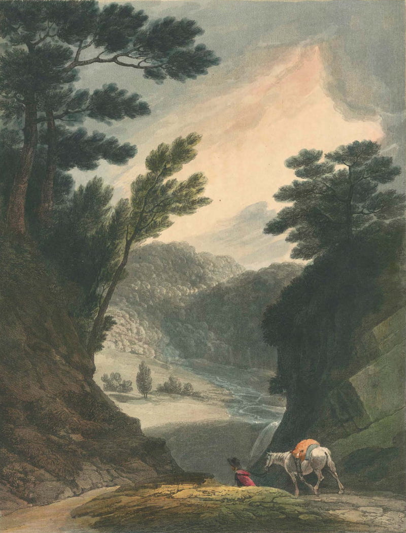 Picturesque Views of American Scenery - View Near the Falls of Schuylkill (1820)