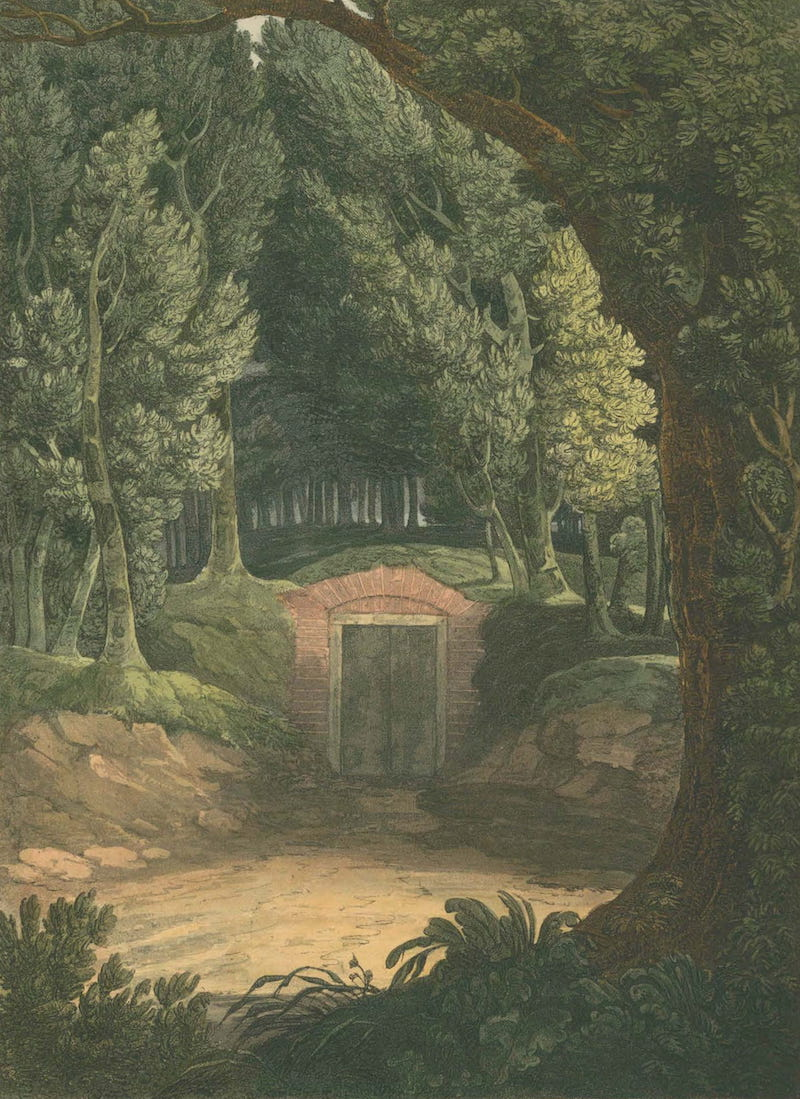 Picturesque Views of American Scenery - Washington's Sepulchre, Mount Vernon (1820)
