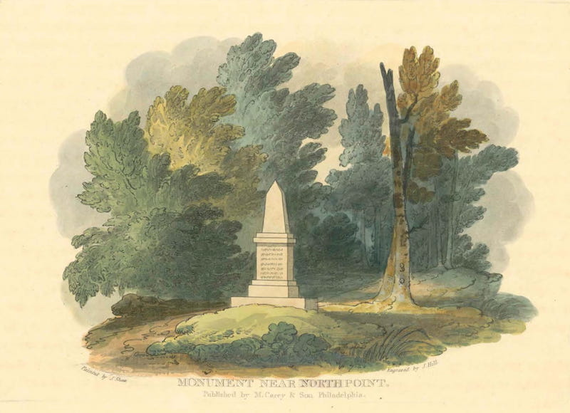 Picturesque Views of American Scenery - Monument Near North Point (1820)