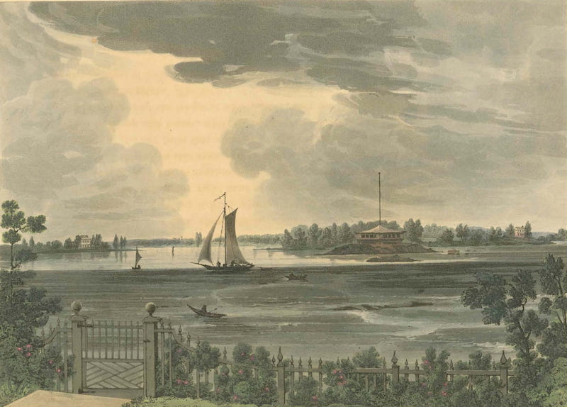 Picturesque Views of American Scenery - Hell Gate (1820)