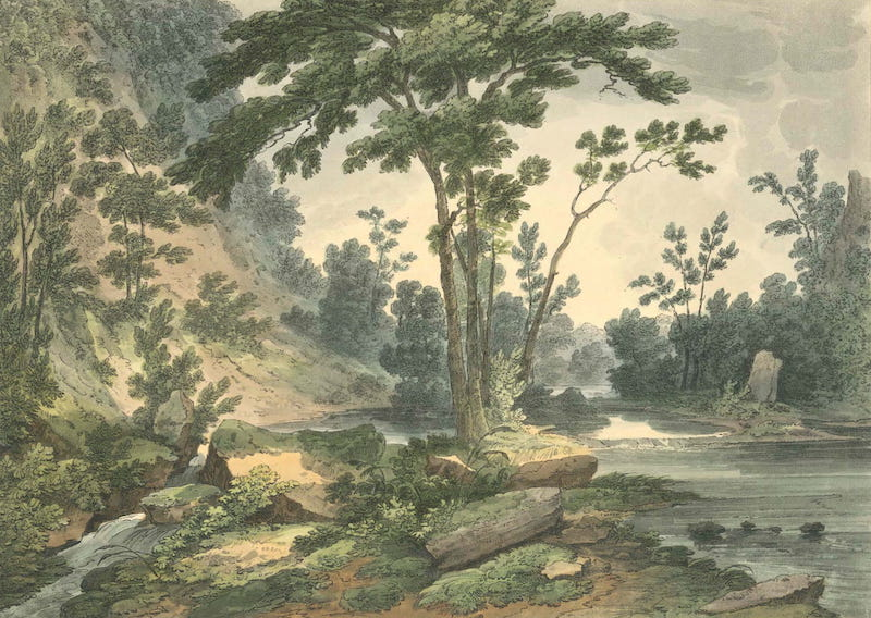 Picturesque Views of American Scenery - Passaic River Below the Falls (1820)