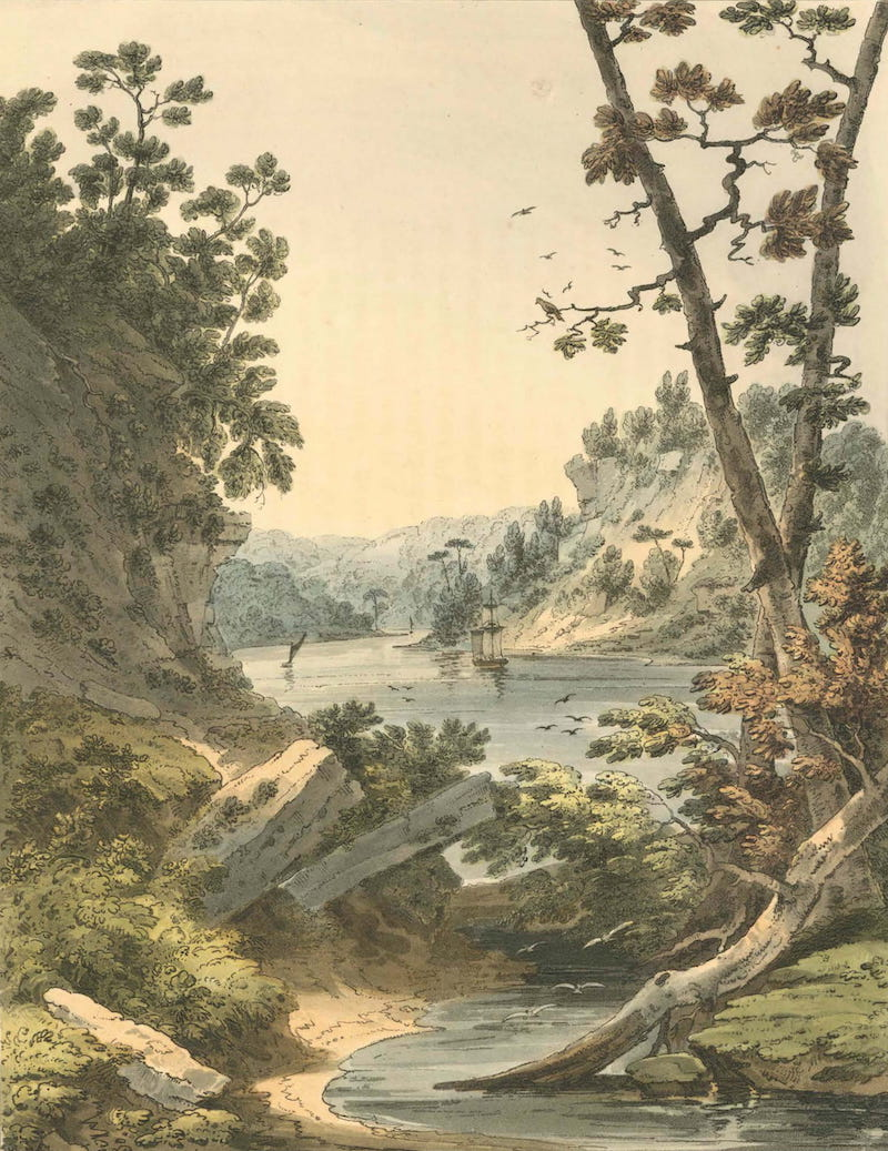 Picturesque Views of American Scenery - View on the North River (1820)