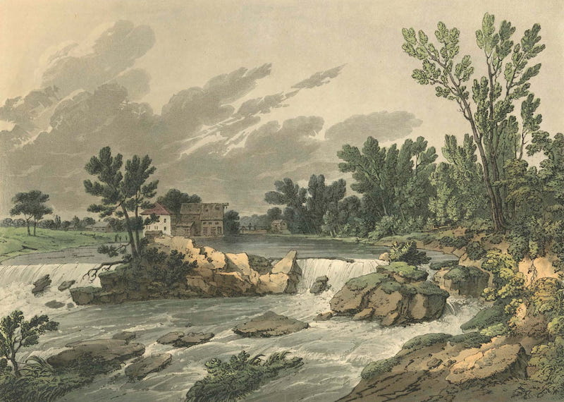 Picturesque Views of American Scenery - Bolling's Dam, Petersburgh, Virginia (1820)