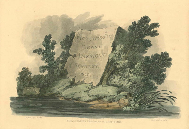 Picturesque Views of American Scenery - Title Page (1820)