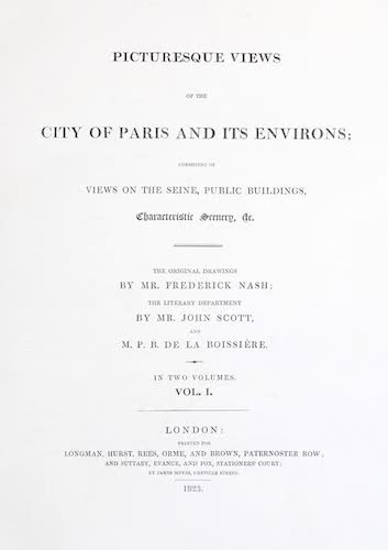 Great Britain - Picturesque Views of the City of Paris Vol. 1