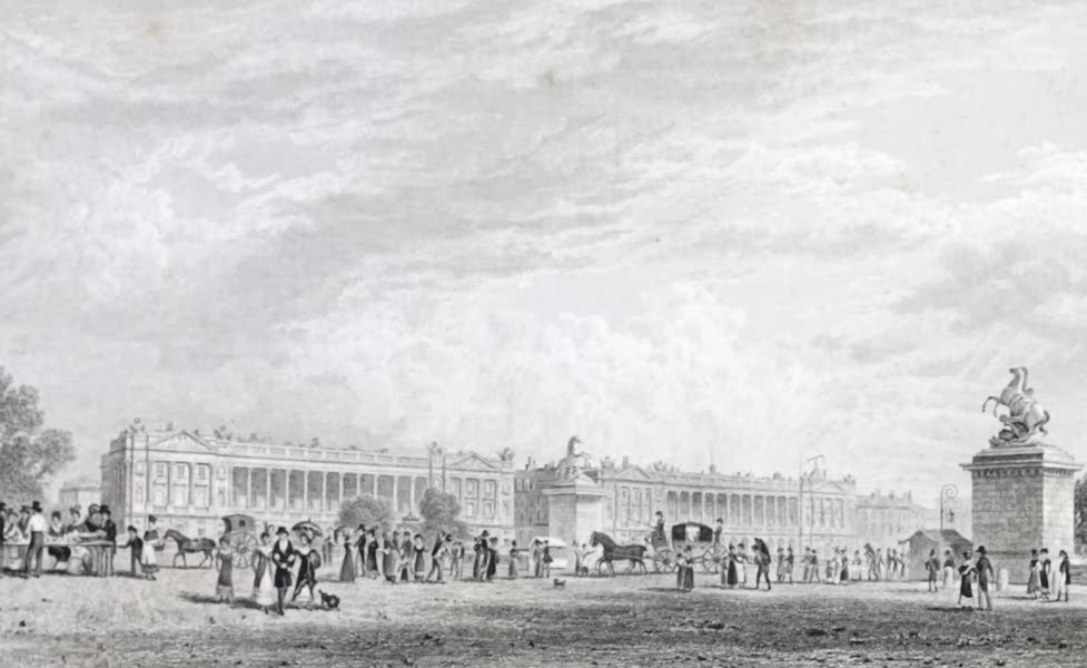 Picturesque Views of the City of Paris Vol. 1 - Garde-Meuble, and Place Louis XV (1823)