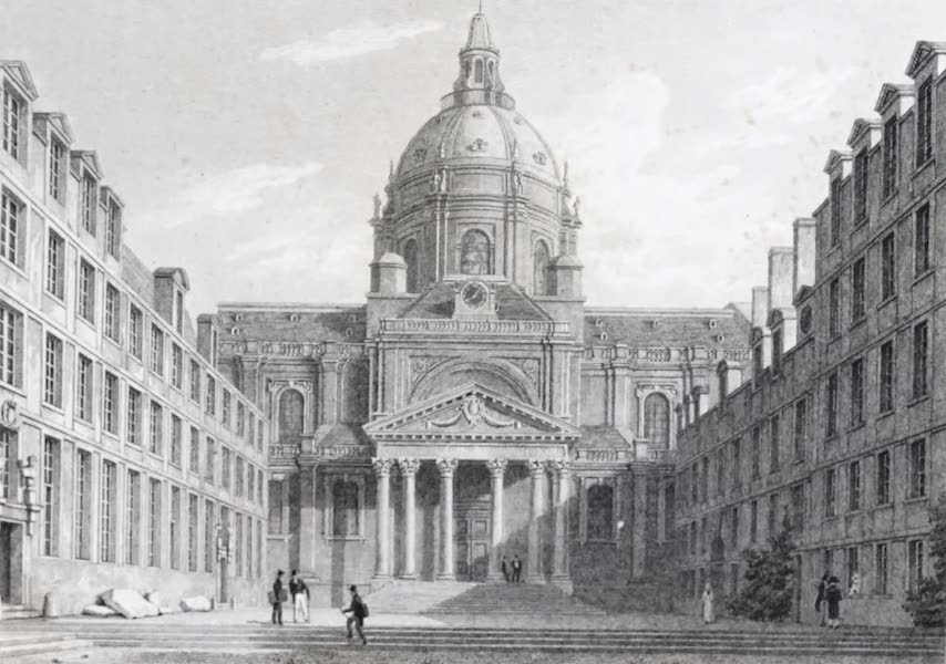 Picturesque Views of the City of Paris Vol. 1 - Church of the Sorbonne (1823)