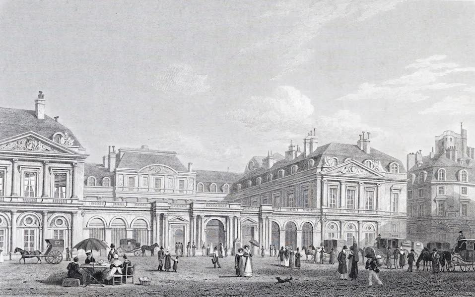 Picturesque Views of the City of Paris Vol. 1 - Front of the Palais Royal (1823)