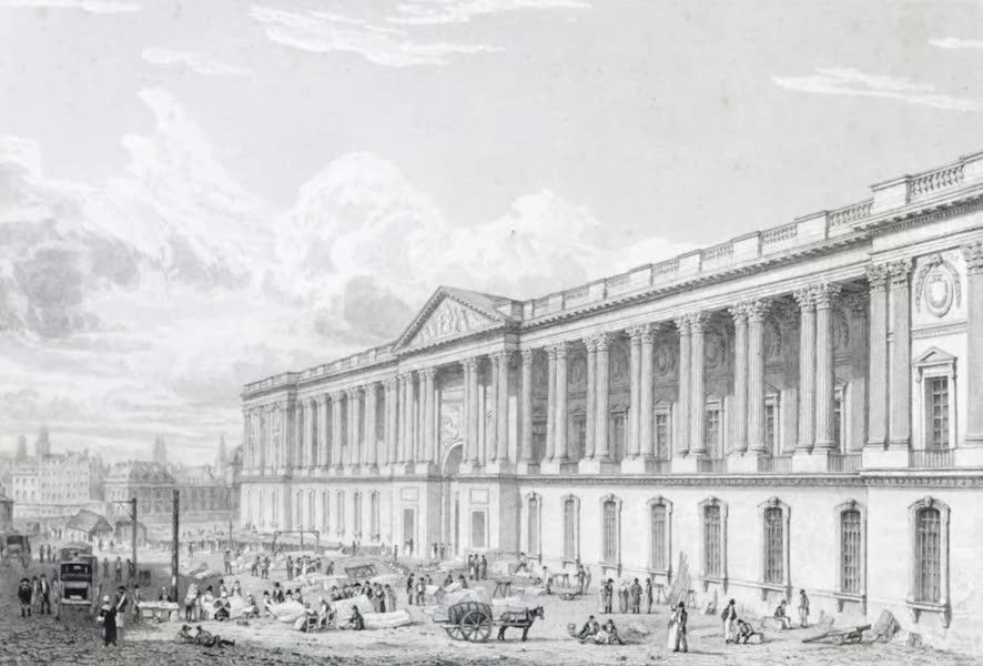 Picturesque Views of the City of Paris Vol. 1 - Grand Front of the Louvre (1823)