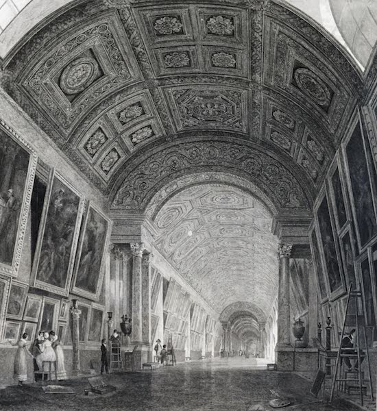 Picturesque Views of the City of Paris Vol. 1 - Grand Picture Gallery of the Louvre (1823)