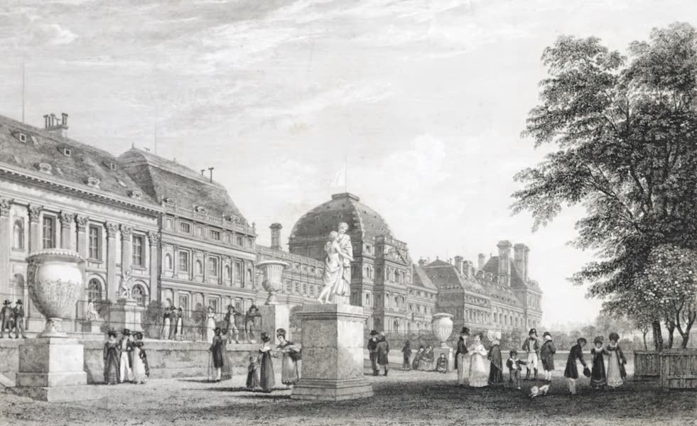 Picturesque Views of the City of Paris Vol. 1 - Palace of the Tuileries, from the Garden (1823)