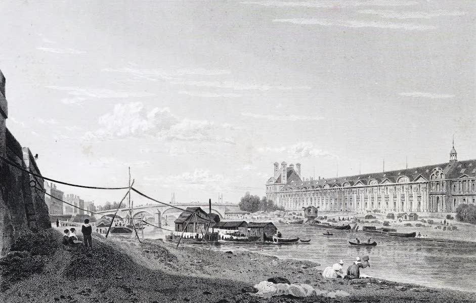 Picturesque Views of the City of Paris Vol. 1 - Pont Royal and Louvre (1823)