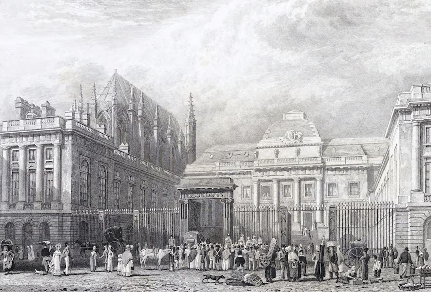 Picturesque Views of the City of Paris Vol. 1 - Exterior of the Palace of Justice (1823)