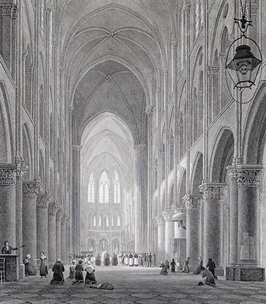 Picturesque Views of the City of Paris Vol. 1 - Interior of the Cathedral of Notre-Dame (1823)