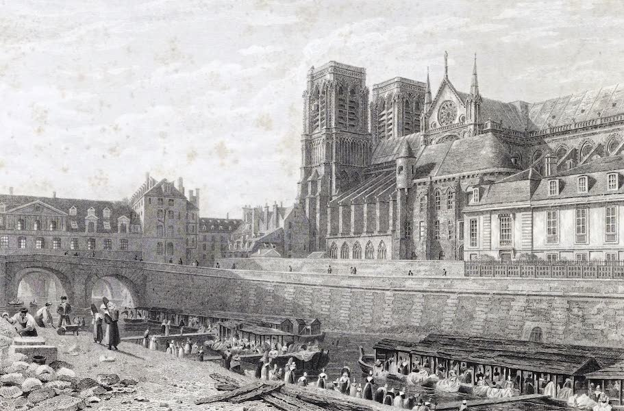 Picturesque Views of the City of Paris Vol. 1 - Notre-Dame, from the River (1823)