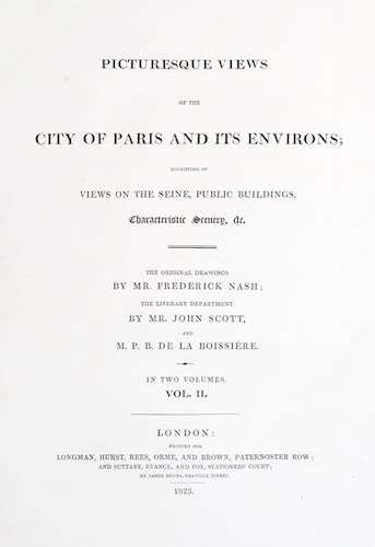 Great Britain - Picturesque Views of the City of Paris Vol. 2