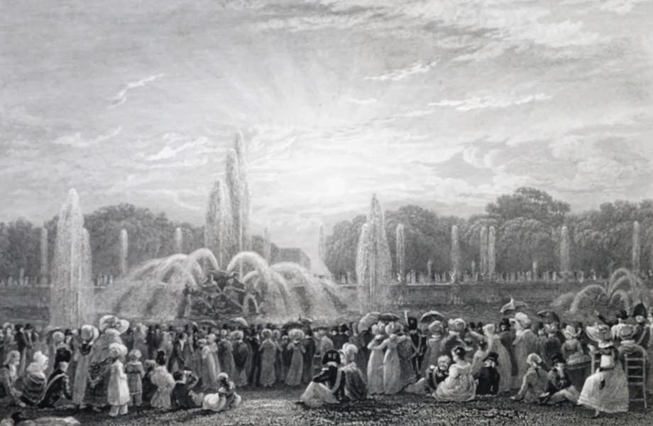 Picturesque Views of the City of Paris Vol. 2 - Fountains of Neptune, at Versailles (1823)