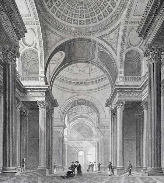 Picturesque Views of the City of Paris Vol. 2 - Interior of the Pantheon (1823)
