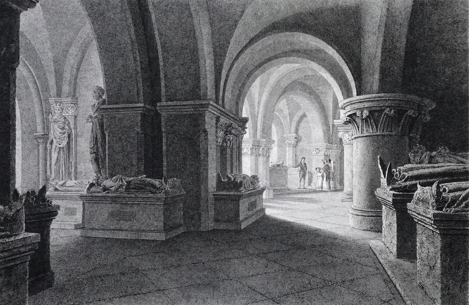 Picturesque Views of the City of Paris Vol. 2 - Interior of the Abbey St. Denis, exhibiting the Royal Monuments (1823)